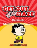 Decimals - Multiplying by Powers of Ten Worksheets/Mazes (MINI BUNDLE)