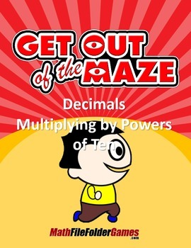 Decimals - Multiplying by Powers of Ten Worksheets/Mazes (