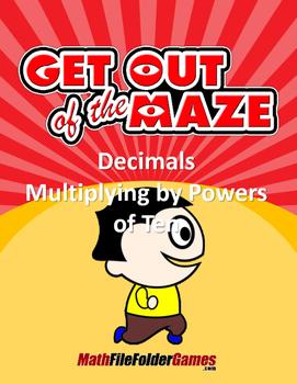 Decimals Multiplying by Powers of Ten Mazes/Worksheets