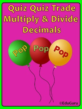 Decimals Mutliply and Divide Cooperative Learning Game