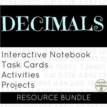 All about Decimals Notes, Station Activities and Project B
