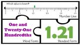 4.2H Decimals Number Line Tenths hundredths Math Work Stat