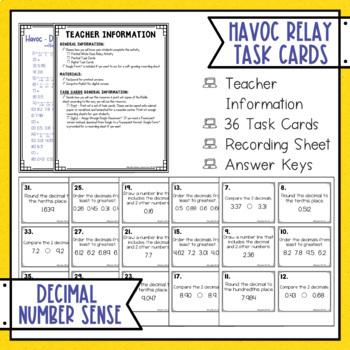Decimals Number Sense Havoc Relay
