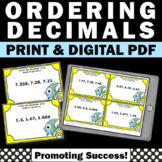 Ordering Decimals to the Thousandths, Decimal Task Cards