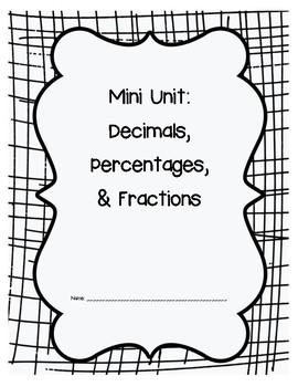 Decimals, Percentages and Fractions: Unit, Review, Quiz