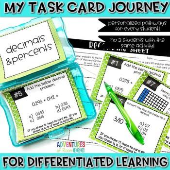 Decimals & Percents Task Cards