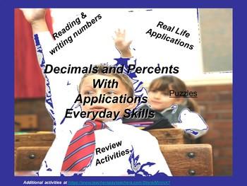 Decimals, Percents, and Their Applications