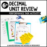 Decimal Operations Performance Task
