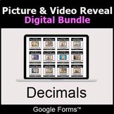 Decimals - Picture & Video Reveal Game  | Digital Bundle |