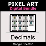 Decimals - Pixel Art Digital Bundle   Google Sheets   Dist