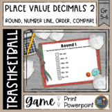 Decimals Place Value 2 Trashketball Math Game
