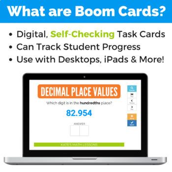 Decimals Place Value Boom Cards - Tenth, Hundredth, Thousandth