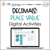 Decimals Place Value Digital Activities   Distance Learning