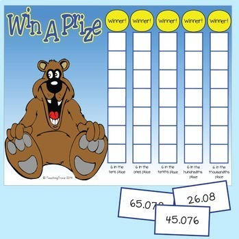 Place Value Game with Decimals