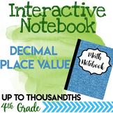 Decimals Place Value Notebook