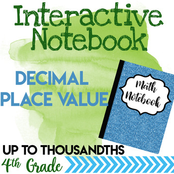 Decimals Place Value Notebook