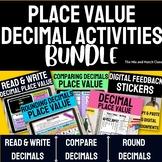 Decimals Place Value Read & Write, Compare Decimals, Round