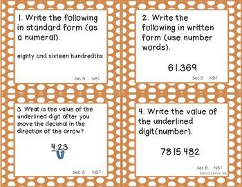 Decimals Place Value Task Cards