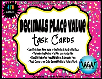 Decimals Place Value Task Cards (to the hundredths place)