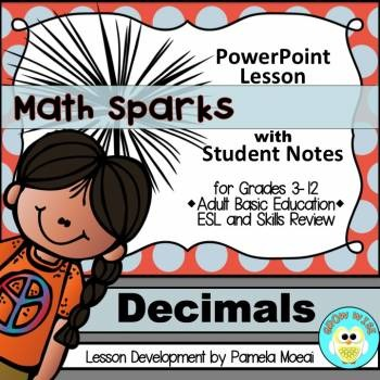 Decimals PowerPoint and Student Notes Newly Revised