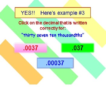 Decimals Powerpoint Fun Quiz FREE PREVIEW