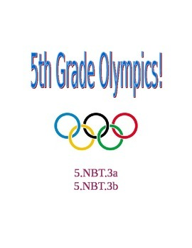 Decimals Practice- Fifth Grade Olympics!