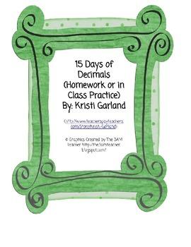 Decimals Practice Pages (Tenths, Hundredths, Thousandths, Rounding)
