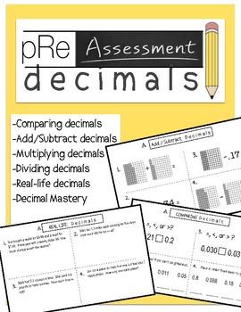 Decimals Pre Assessment