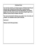 Decimals: Preparing Christmas Dinner Activity