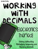 Decimals Printables and Activities {Electronics Themed}