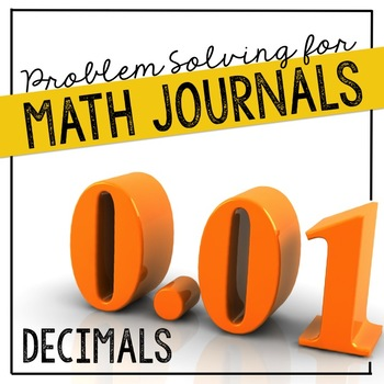 Decimals Problem Solving for Interactive Notebooks and Math Journals