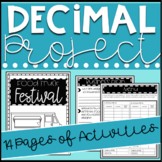 Decimals Project Based Learning Food Truck Festival PBL