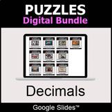Decimals - Puzzles Digital Bundle | Google Slides | Distan