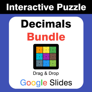 Decimals Puzzles with GOOGLE Slides Bundle