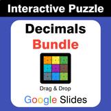 Decimals Puzzles with GOOGLE Slides Bundle