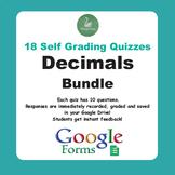 Decimals Quiz Bundle (Google Forms)