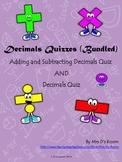 Decimals Quizzes (Bundled)