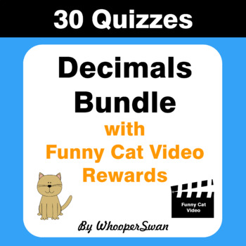 Decimals Quiz with Funny Cat Video Rewards [Bundle]