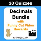 Decimals Quiz with Funny Cat Video Rewards [Bundle]