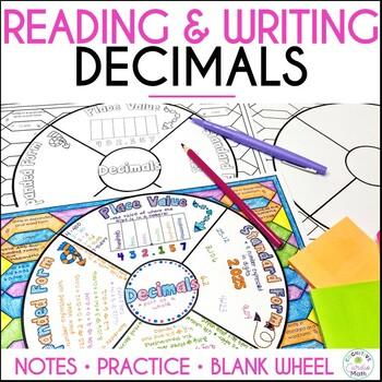 Decimals: Reading and Writing Math Wheel
