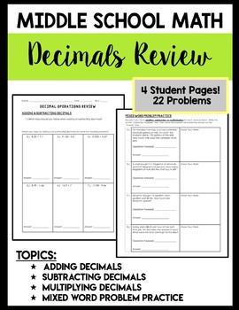 Decimals (Review)