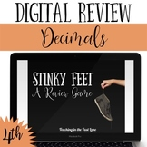 Distance Learning Decimals Review Game Stinky Feet