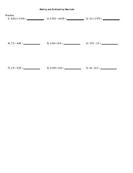 Decimals Review Package