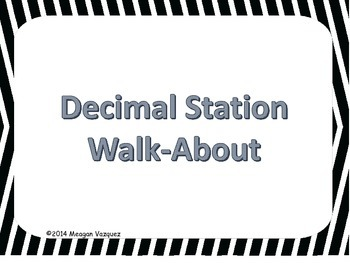 Decimals Review Walk-About Activity