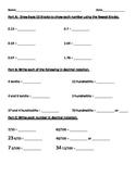 Decimals Review or Assessment