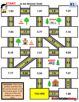 Decimals Rounding Decimals Fun Mazes Worksheets By