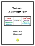 Decimals Scavenger Hunt