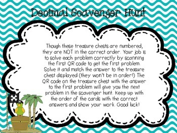 Decimals Scavenger Hunt (Read, Write, Compare, Round)