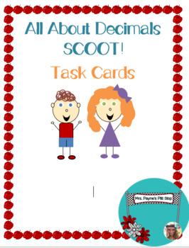 Decimals Scoot! 20 Different Task Cards