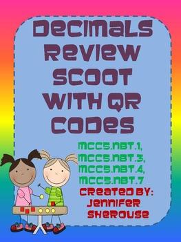 Decimals Scoot with QR Codes
